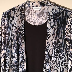 2 in 1 Piece Animal Print Blouse